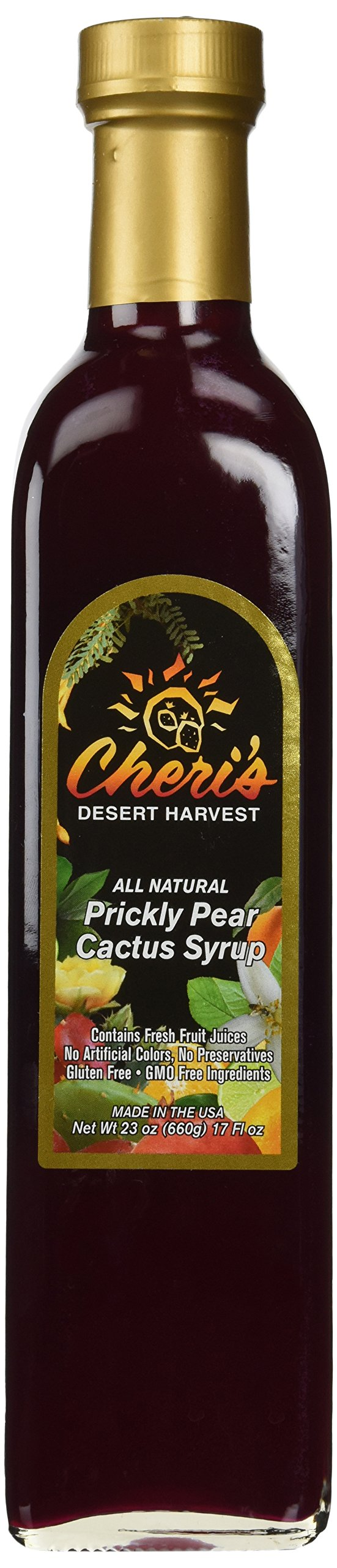Prickly Pear Syrup - 23 oz - Giant Size - Made from Natural Prickly Pear Juice - Cactus - Southwest