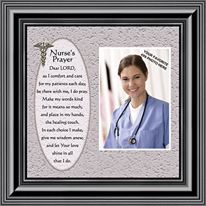 Amazon.com - Nurses Prayer, Personalized Picture frame for Nurses ...