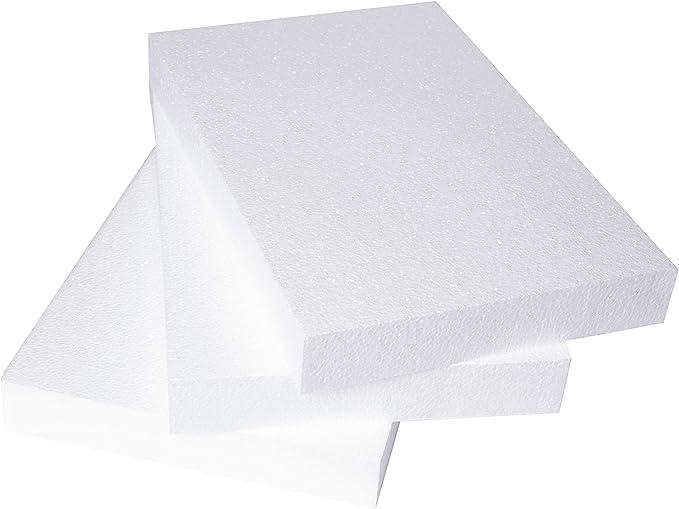 Thick Polystyrene Foam Blocks for Crafts 8 x 4 x 2 Inches 6-Pack Craft Foam Bricks Styrofoam Blocks