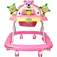 ODELEE Panda Musical Baby Walker (RED) (Pink)