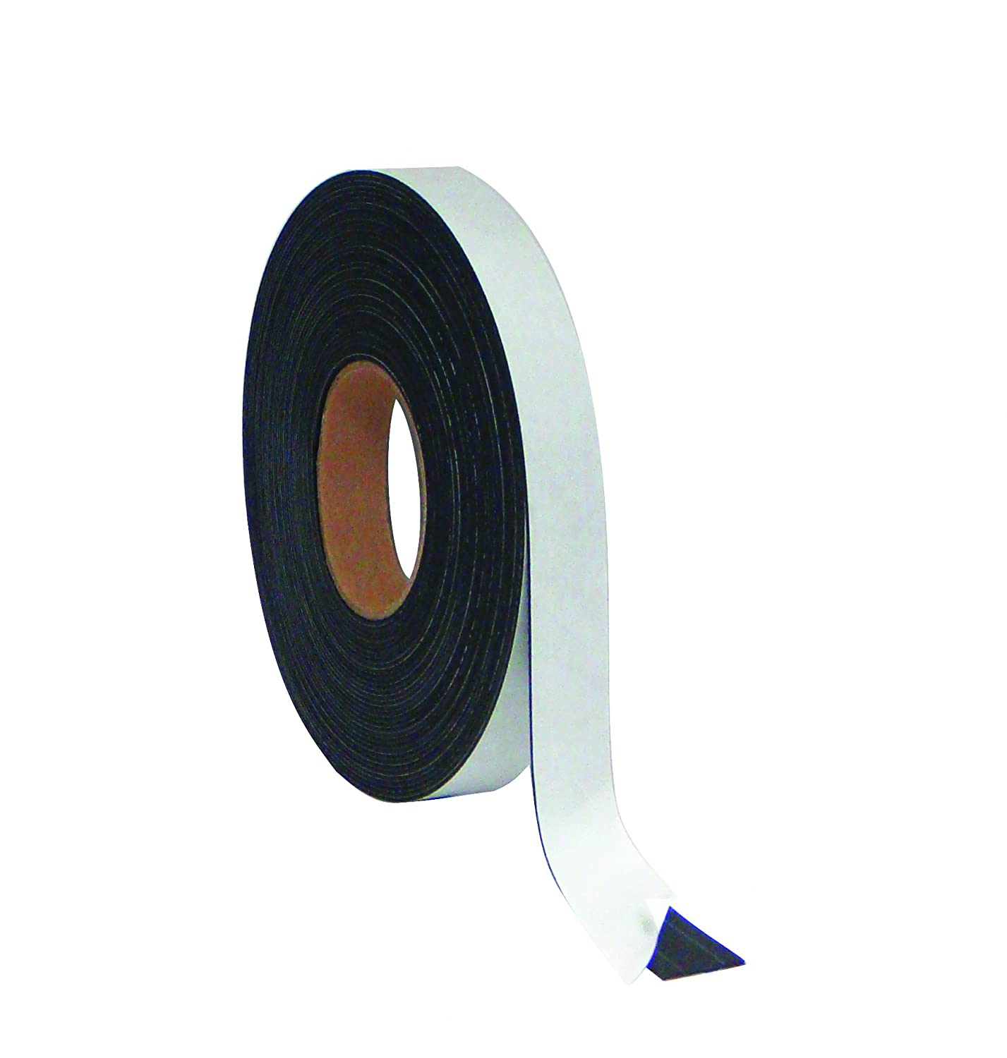 1//2 Inch x 50 Feet MasterVision Magnetic Adhesive Tape Roll FM2321 Black