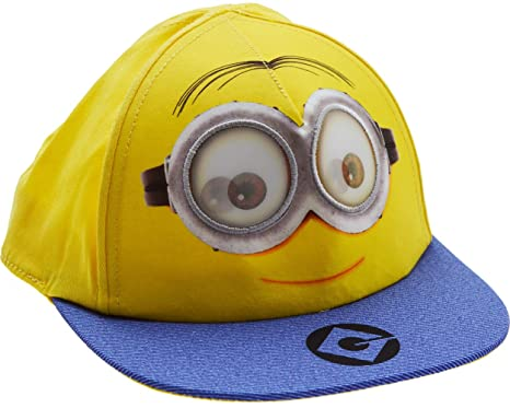8c2ea65f607 Image Unavailable. Image not available for. Colour  Boys - Minions Snapback  Flat Peak Baseball Cap ...