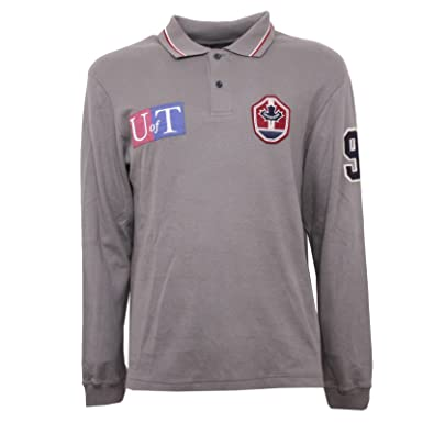 B3462 polo uomo CANADIENS maglia manica lunga grigio t-shirt men ...