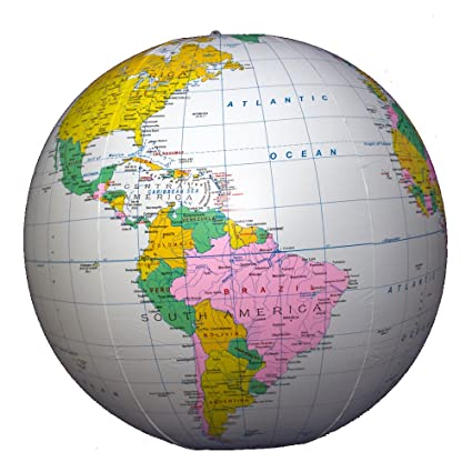Buy jet creations inflatable globe with political world map light jet creations inflatable globe with political world map light blue 36quot gumiabroncs Gallery