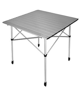 Crazy Creek Crazy Legs Roll Up Aluminum Table, Silver