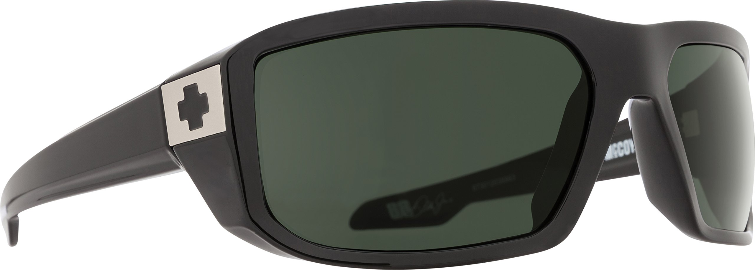 Spy Optic Men's Mccoy Black-Happy Gray Green Rectangular, One Size