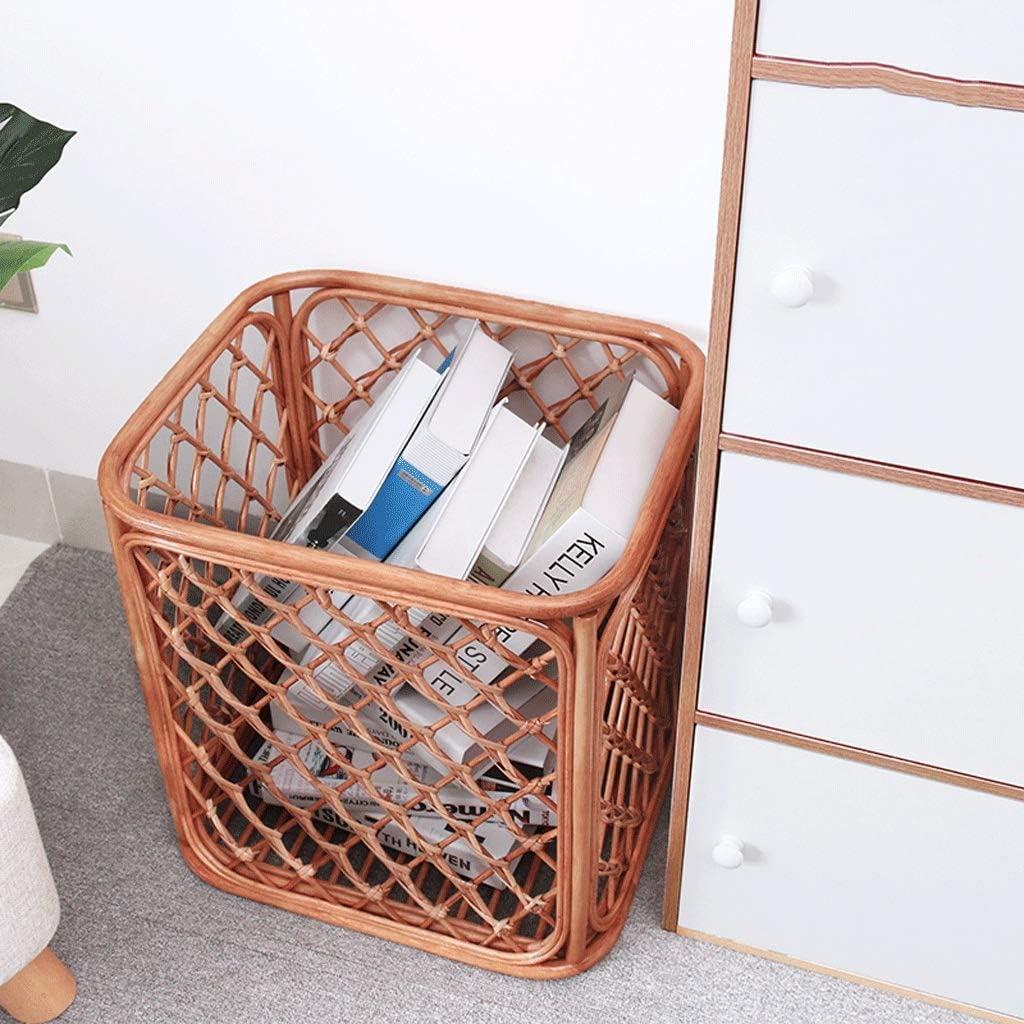 ETJar Panier à linge à la main en rotin Panier de rangement gros articles ménagers Laundry Basket Creative,T Petit