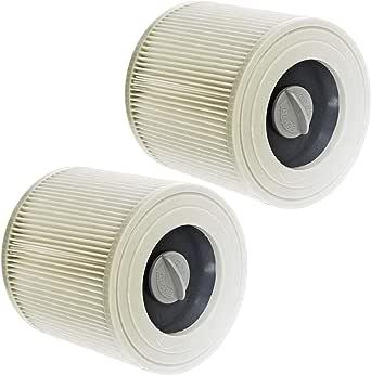 Spares2go - 2 cartuchos de filtro premium para la aspiradora Karcher WD2, WD3 y WD3P, seco y húmedo: Amazon.es: Grandes electrodomésticos