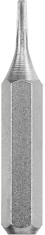 Tige 4/mm, acier TQ 60, avec bande de maintien KWB de 3/embouts 28/mm Micro 128340/Pentalobe 0/W 0/V