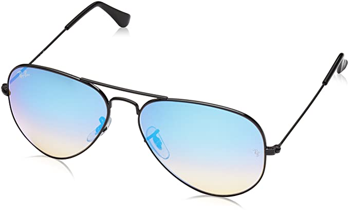 Amazon.com: Ray-Ban AVIATOR LARGE METAL - SHINY BLACK Frame MIRROR