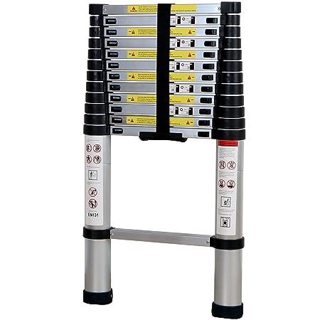 Lifewit 12.5ft EN131 Telescoping Ladder Aluminum Telescopic Extension Multi Purpose Ladders