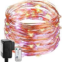 DecorNova Fairy Plug in Firefly Copper Wire String Light w/3V Adapter