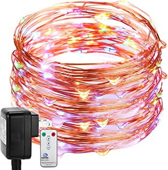 DecorNova Fairy Plug in Firefly Copper Wire String Light