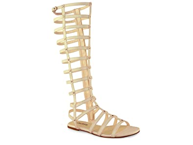 fc33ee5db47 Chockers Shoes Womens Ladies Strappy Gladiator Flat Studded Sandal Boots  Sizes 3-8 (5