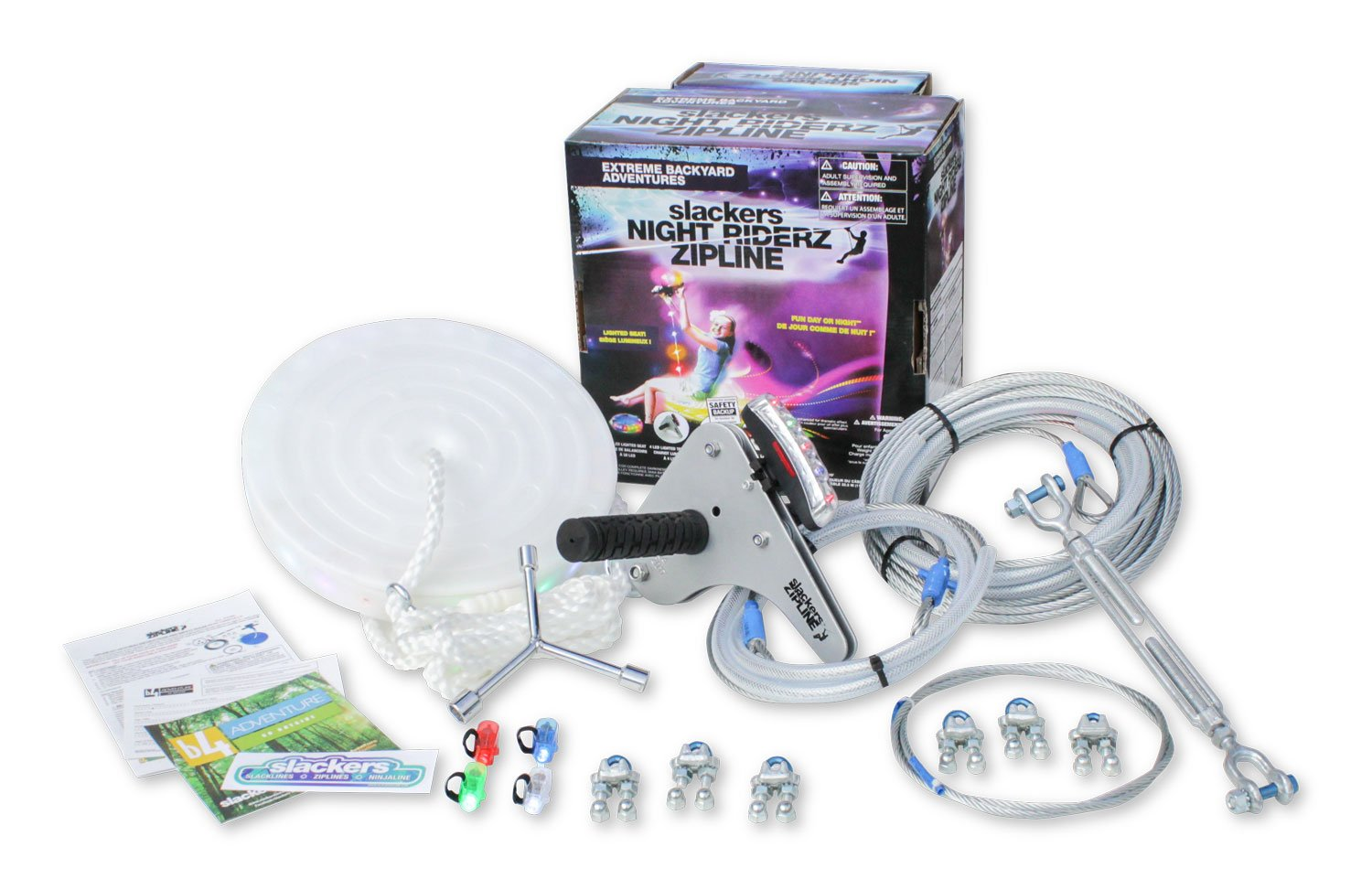 100' Night Riderz Series Zipline Kit