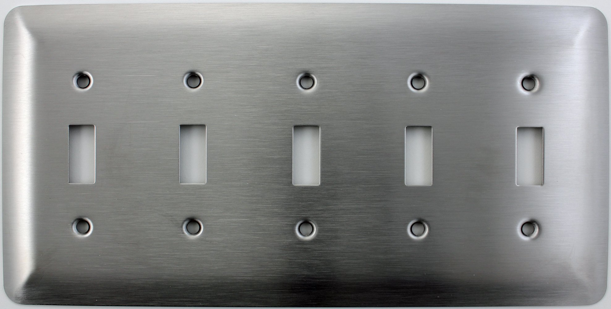 Mulberry Princess Style Satin Stainless Steel Five Gang Toggle Light Switch Wall Plate