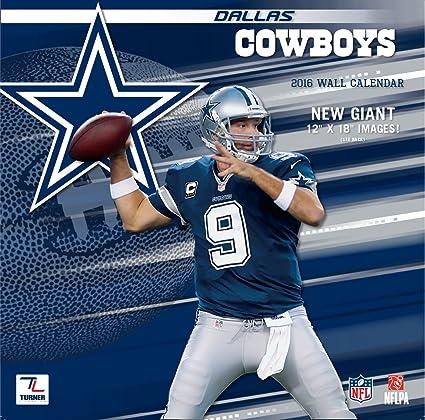 Amazon.com  Turner Dallas Cowboys 2016 Team Wall Calendar 3c6baa426