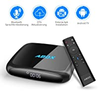 Android 7.1 TV BOX 2018 Neueste Modell GooBang Doo ABOX A4 mit innovativen Voice Remote, beste Android UI, 2 GB RAM 16 GB ROM Bluetooth 4.0 Quad Core A53 Prozessor 64 Bits