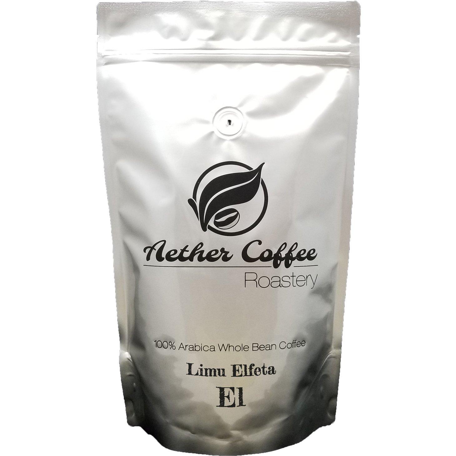 Aether Specialty Whole Bean Coffee - Single Origin - 1LB LIMU CHEFFE ELFETA (Ethiopia, Natural) - Light Medium Roast (Fruity Tart)