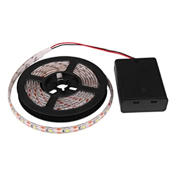 Amazon led strip lights powstro battery operated waterproof amazon led strip lights powstro battery operated waterproof led lights strips 5050smd flexible leds ribbon light led tape with control box for aloadofball Choice Image