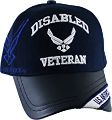 d1da567bb4eee K&S Unique Disabled U.S. Air Force Veteran Vinyl Bill Shadow Mens Cap [Navy  Blue -