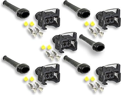 6 Connecteur injecteur compatible Bosch EV1-2 broches