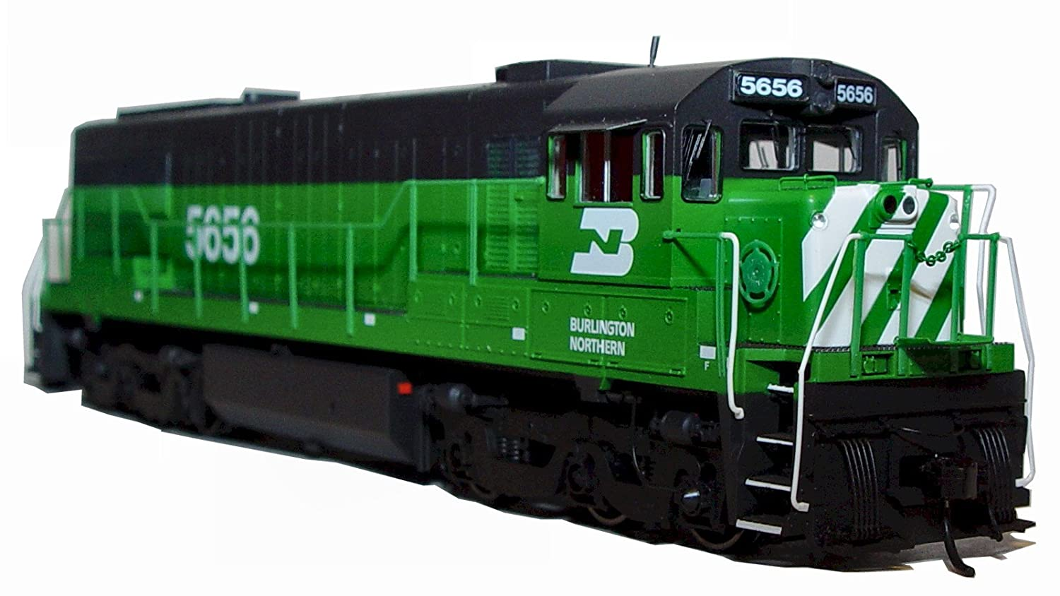 Rivaraossi HO Scale Trains Dcc Ready Burlington Northern #5656 HR2621 General Electric U28C Diesel Locomotive Train