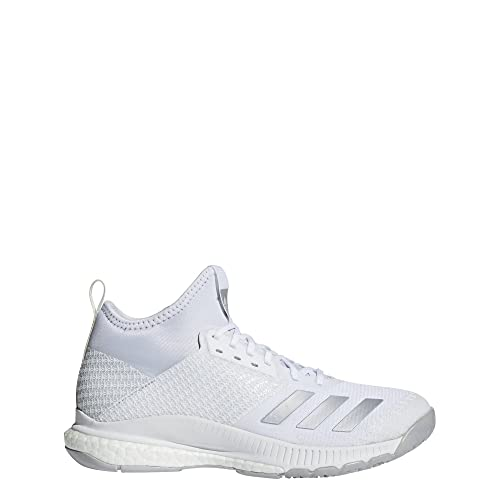 competitive price 34839 e38de adidas Womens Crazyflight X 2 Mid Volleyball Shoes, White  (FtwblaPlametGridos