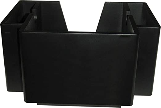 NEW Wooden Classic Black 2 Pocket Napkin Bar Caddy Straw Holder