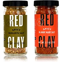 Red Clay Spicy Drink Salt Duo - Bloody Mary (2.7 oz) and Margarita (4 oz) Salt Variety (Pack of 2)