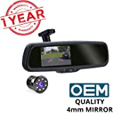 Blackcat Car Reverse Camera with OE Quality Replacement Mirror (Auto-Brightness Adjusting Monitor)