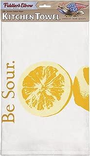 "product image for Flour Sack Kitchen Dish Towel | ""Be Sour"" | Printed Flour Sack Dish Towel | 100% Cotton | 22"" X 32"" Large Sized Flour Sack Kitchen Towel"