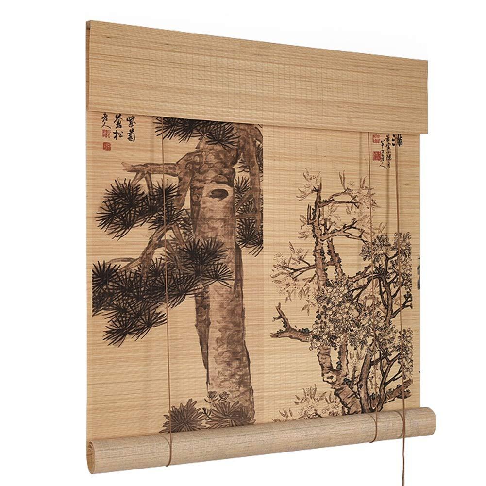 CHAXIA 竹ロールスクリーン竹はウィンドウシェードを竹すだれ竹製カーテン HD 印刷 バルコニー 勉強部屋 エントランス 垂れ幕 カバーライト 複数のサイズ カスタマイズ可能 (色 : A, サイズ さいず : 135x225cm) 135x225cm A B07QRZMN8Y