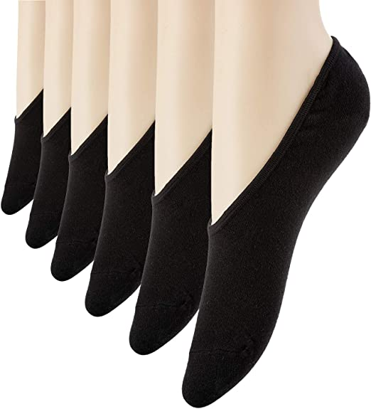 Set of 6 Women/'s Lace Socks Invisible Liner No Show Low Cut Fit Size 6-9
