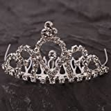 Crazy K&A Mini Charming Rhinestone Tiara Crown Headband Comb Pin #004