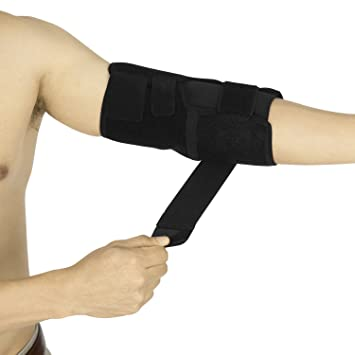 Adjustable Elbow Brace by Vive - Arm Support Strap - Tennis Elbow Splint for Pain,
