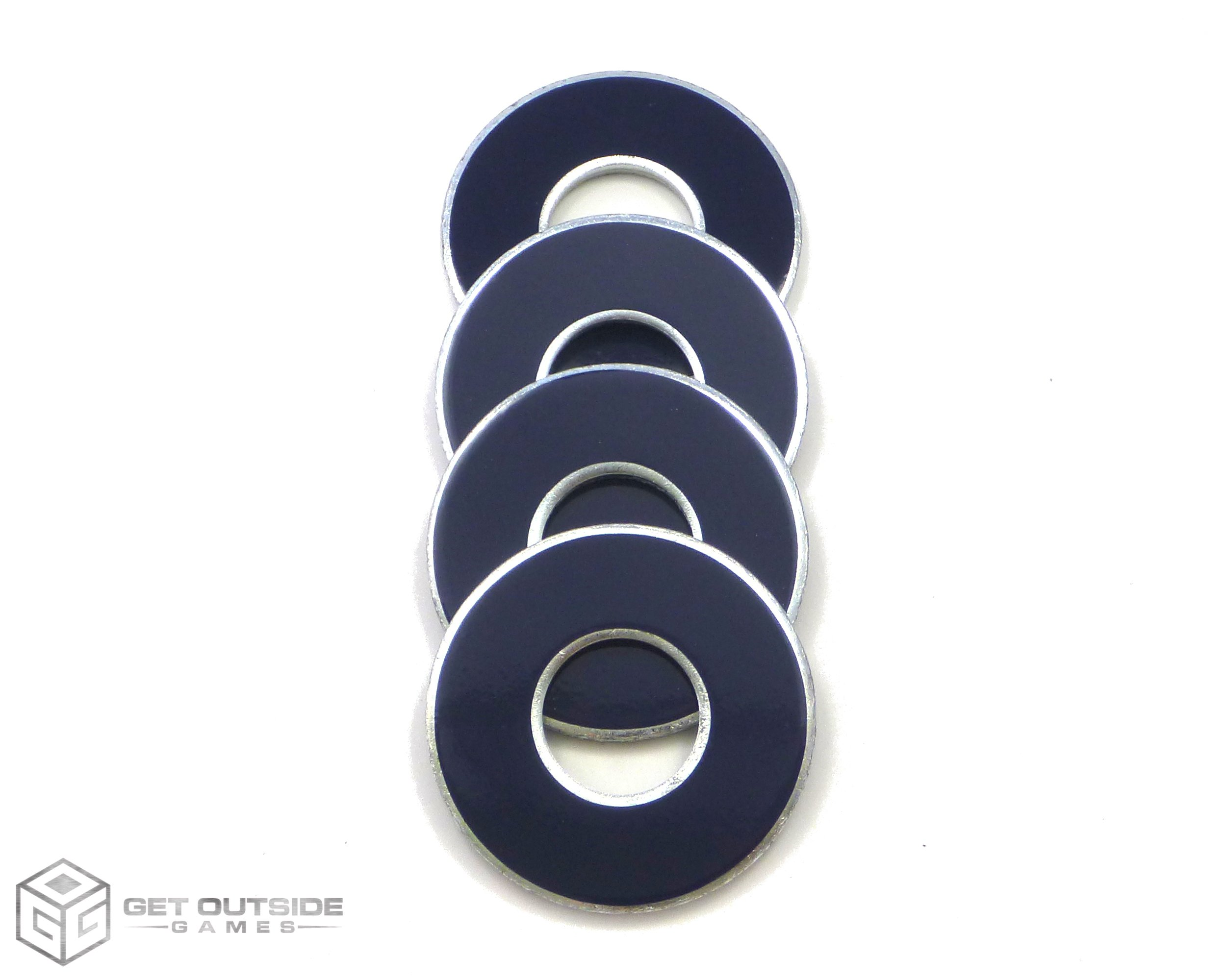Get Outside Games 4 VVashers - Washer Toss/Washer Game Washers (Blue-Navy, 4 VVashers)