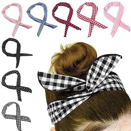 HBselect Fascia Capelli Bambina in Stile Fantasia Un set da 6 Fasce Capelli Neonata in Cotone Morbido ed Elastico Accessori per capelli