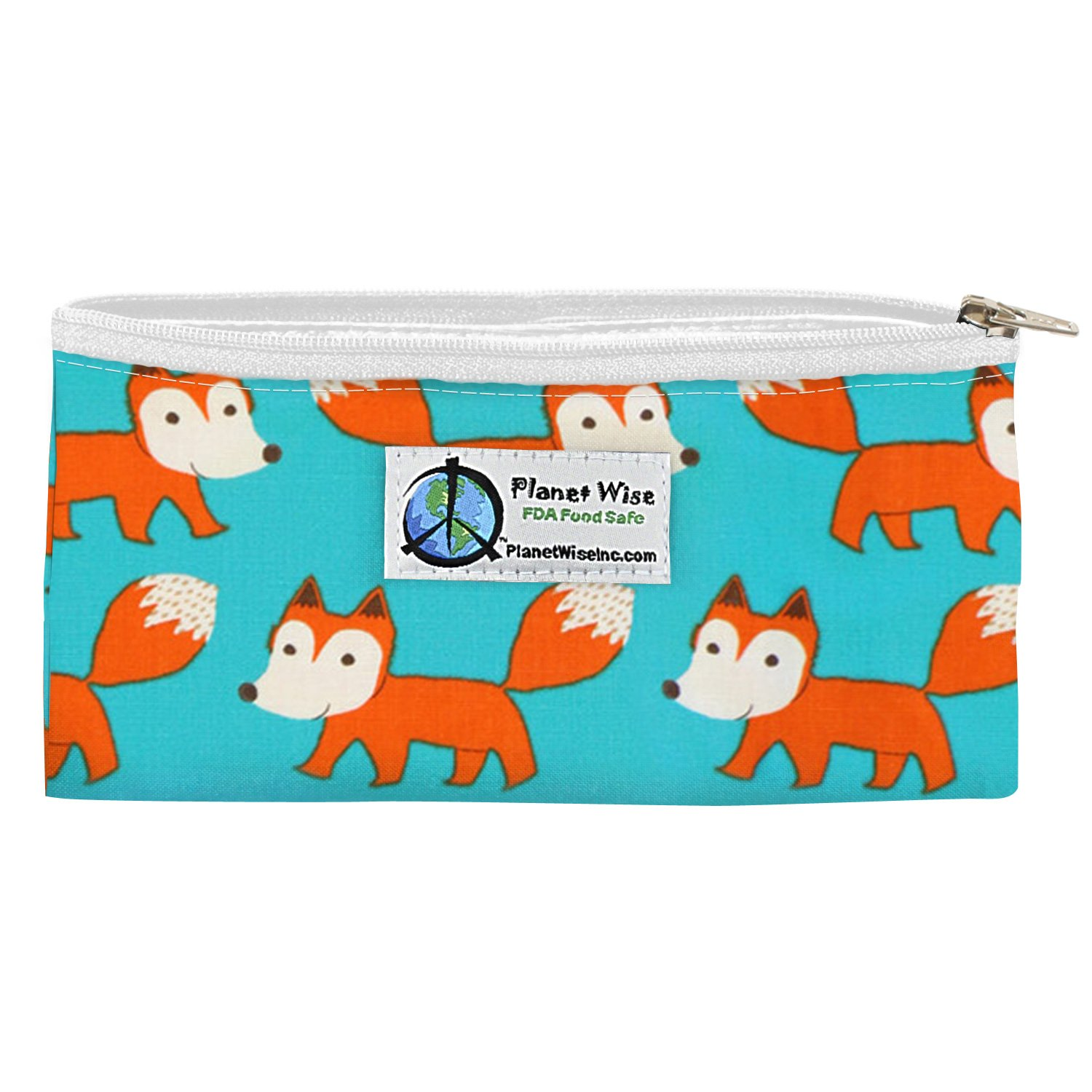 Planet Wise Reusable Zipper Sandwich and Snack Bags, Snack, Sly