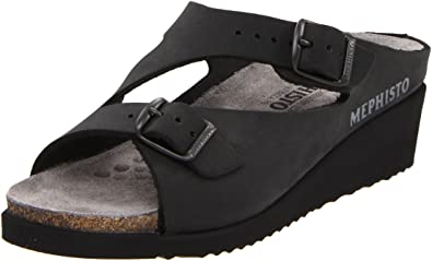 a8c52d1e436 Mephisto Women's Elka Slide Sandal, Black Nubuck, 7 M US: Amazon.co ...