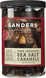 product image for Sanders Dark Chocolate Sea Salt Caramels - 36 ounces (2.25 pounds) - PACK OF 4