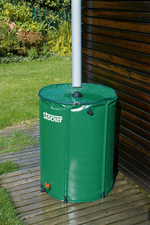 Stocker-Depósito de agua de lluvia de 225 lt: Amazon.es: Jardín