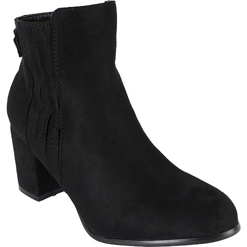 BeMeesh Zapatos Mujer Tipo Botines con Cremallera: Amazon.es: Zapatos y complementos