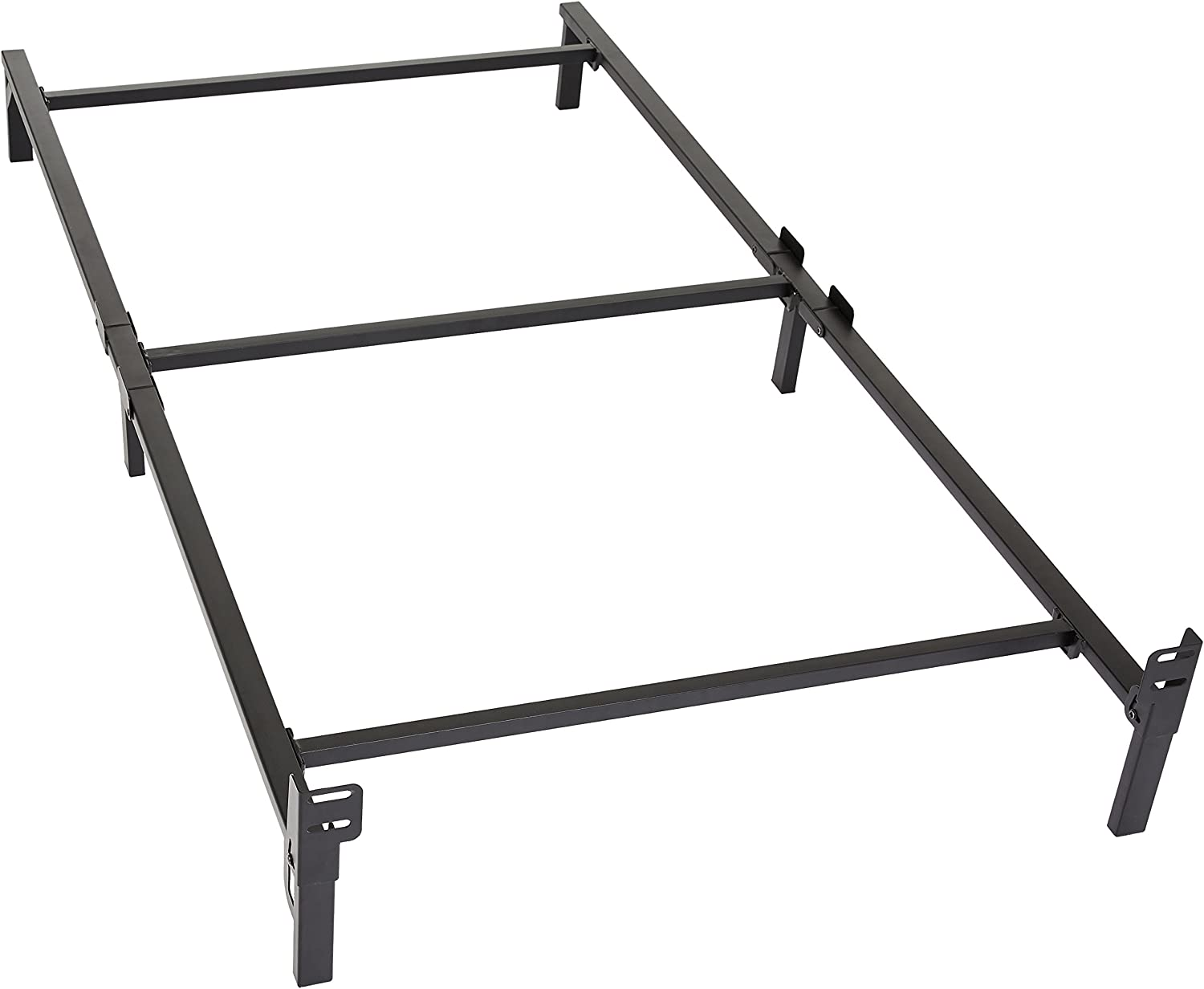 Amazon Basics 6-Leg Support Metal Bed Frame – Strong Support for Box Spring and Mattress Set – Twin Size Bed
