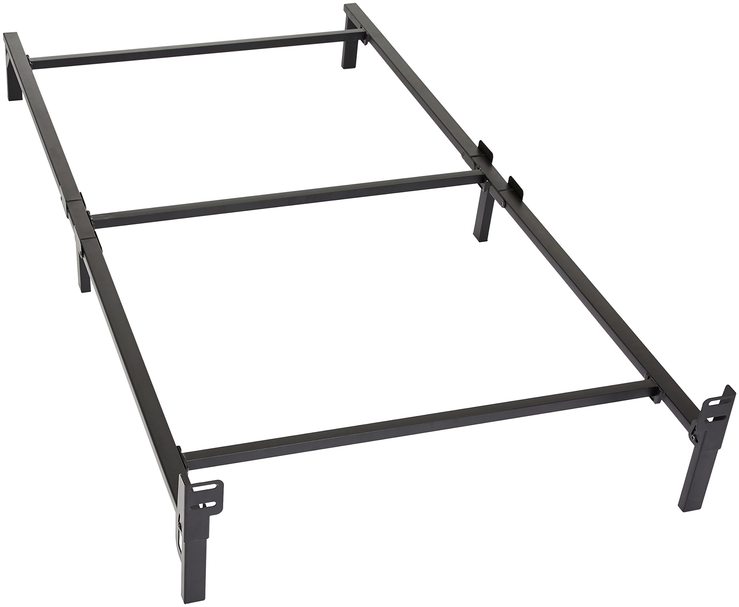 Amazon Basics 6-Leg Support Metal Bed Frame - Strong Support for Box Spring and Mattress Set - Twin Size Bed by AmazonBasics
