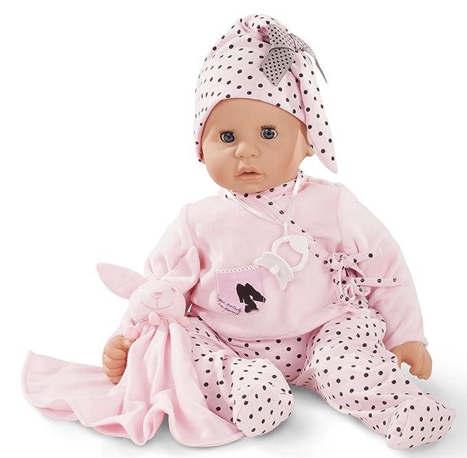 Götz 1661045 Cookie Ladies & Spots Puppe - 48 cm große Babypuppe mit blauen Schlafaugen, ohne Haare, Einem Weichkörper - 6-te
