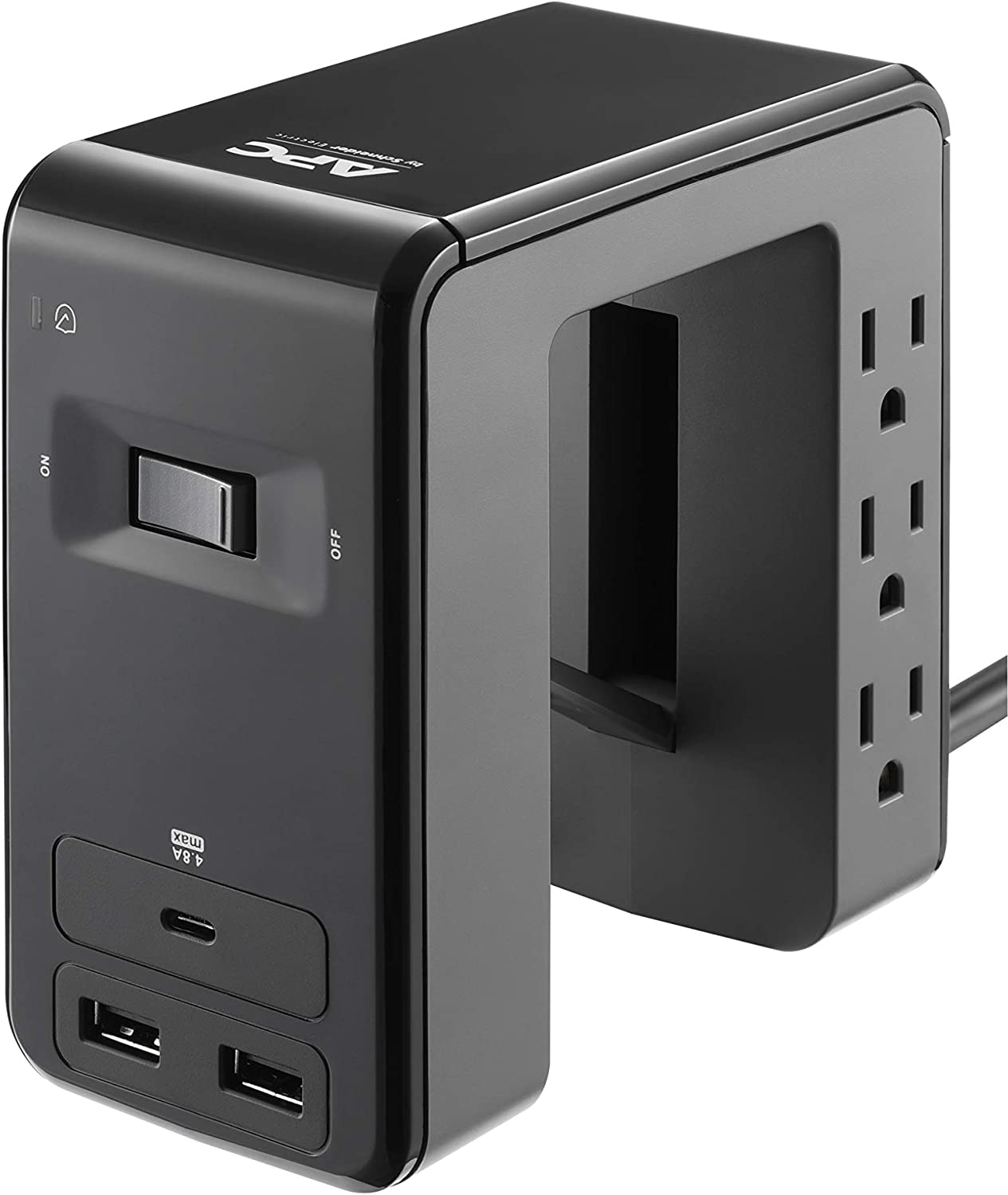 APC PE6U21 Desk Mount Power Station, U-Shaped Surge Protector