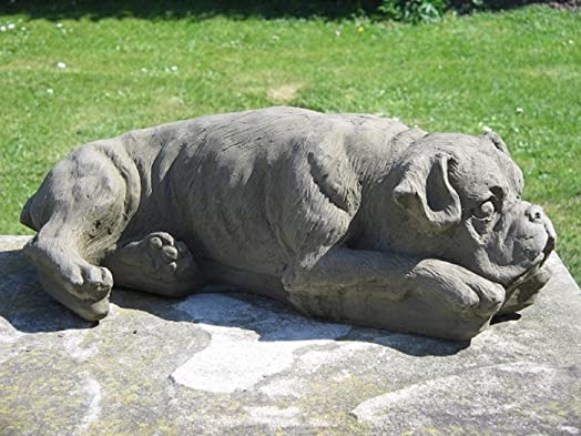 Lovely Stone Boxer Dog Garden Statue