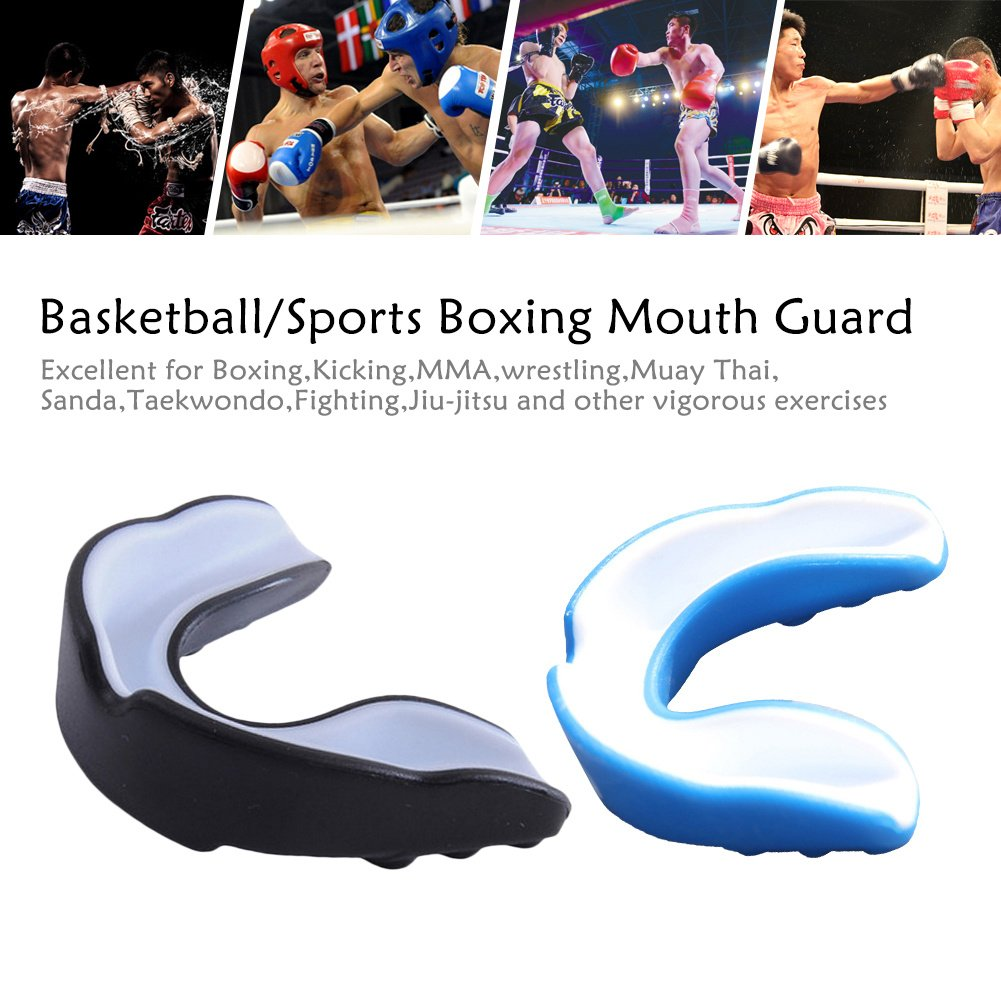 1×Sue Supply Mundschutz/Zahnschutz - Für Boxen, MMA, Rugby, Kickboxen, Judo, Karate, Hockey & Kampfsport. Sportmundschutz mit Praktischer Aufbewahrungsbox Schützt Zähne, Zahnfleisch & Kiefer SueSupply