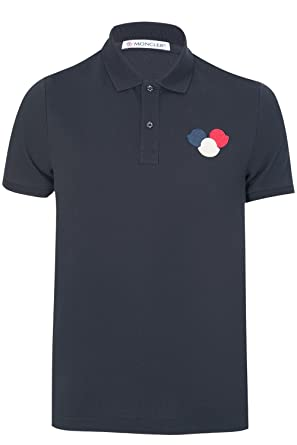 44f62a3ca Moncler Shirt - Mens Maglia Polo Shirt in Navy  Amazon.co.uk  Clothing